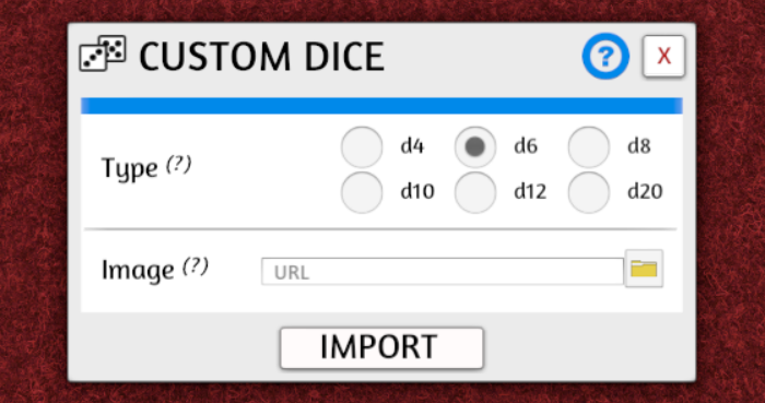 Importing Dice Templates